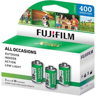 Fuji 400 ISO color 35mm film 3 rolls x 36 photos (exposures)